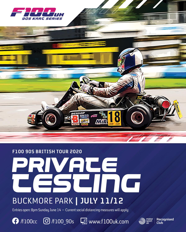 F100 Practice 2020 Buckmore Park