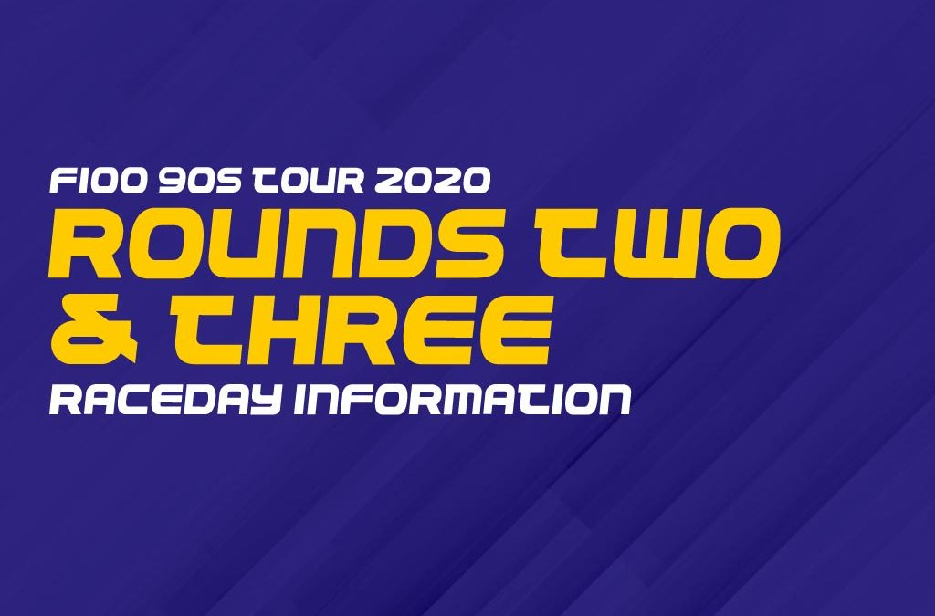 F100 90s tour 2020: Rounds two and three race day information