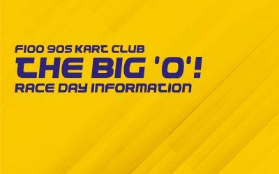 F100 90s Kart Club: The Big 'O' Race Day Information